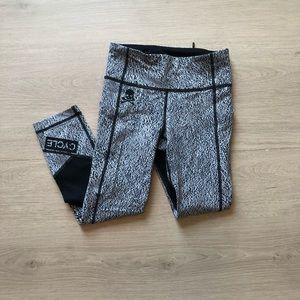 Lululemon | Soul Cycle Grey Cropped Mesh Leggings